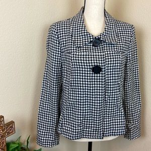 Cato Swing Jacket Blazer Houndstooth Black White L
